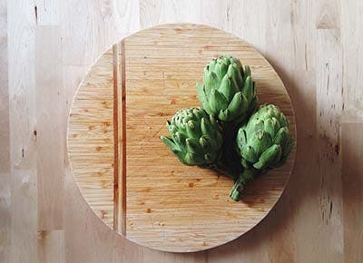 cutting board artichokes 400