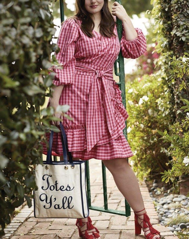 draper james plus size red dress