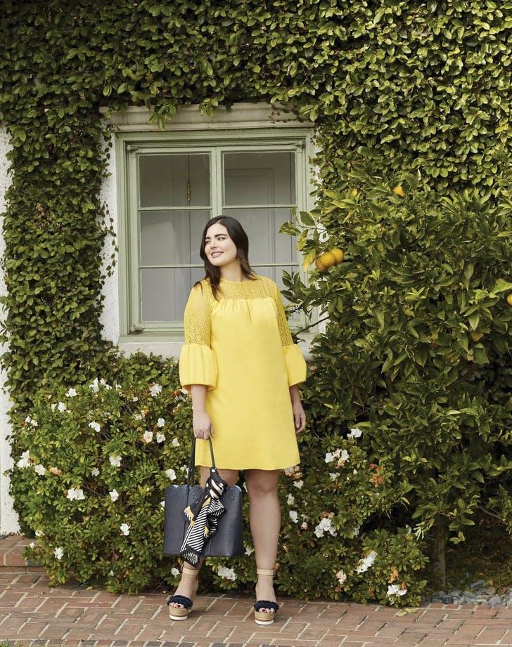 draper james plus size yellow dress