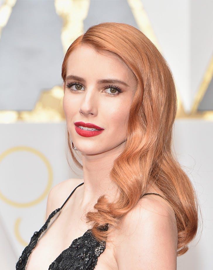 emma roberts matte rose gold hair