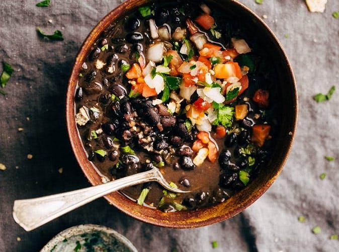 instant pot easy detoxing black bean soup recipe