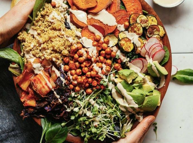 kale salad with tahini dressing recipe
