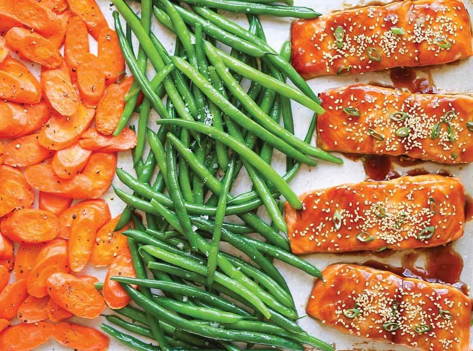 keto sheet pan teriyaki salmon recipe