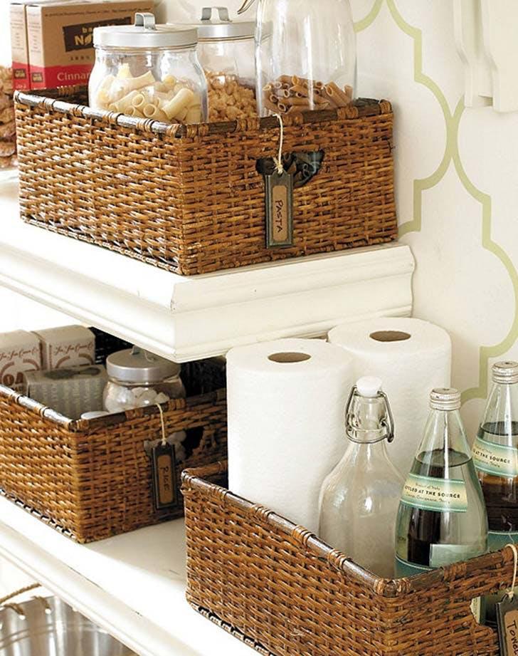 kitchen storage baskets