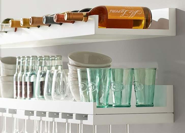 kitchen storage entertaining shleves