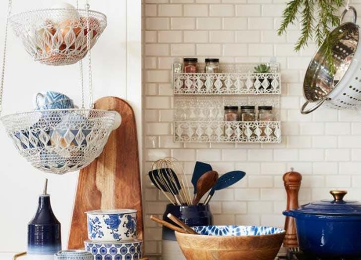kitchen storage floating baskets