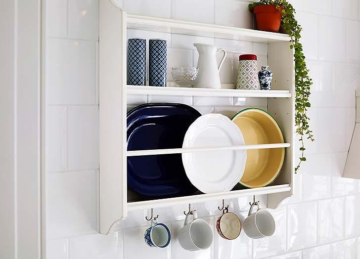 kitchen storage plate shelf