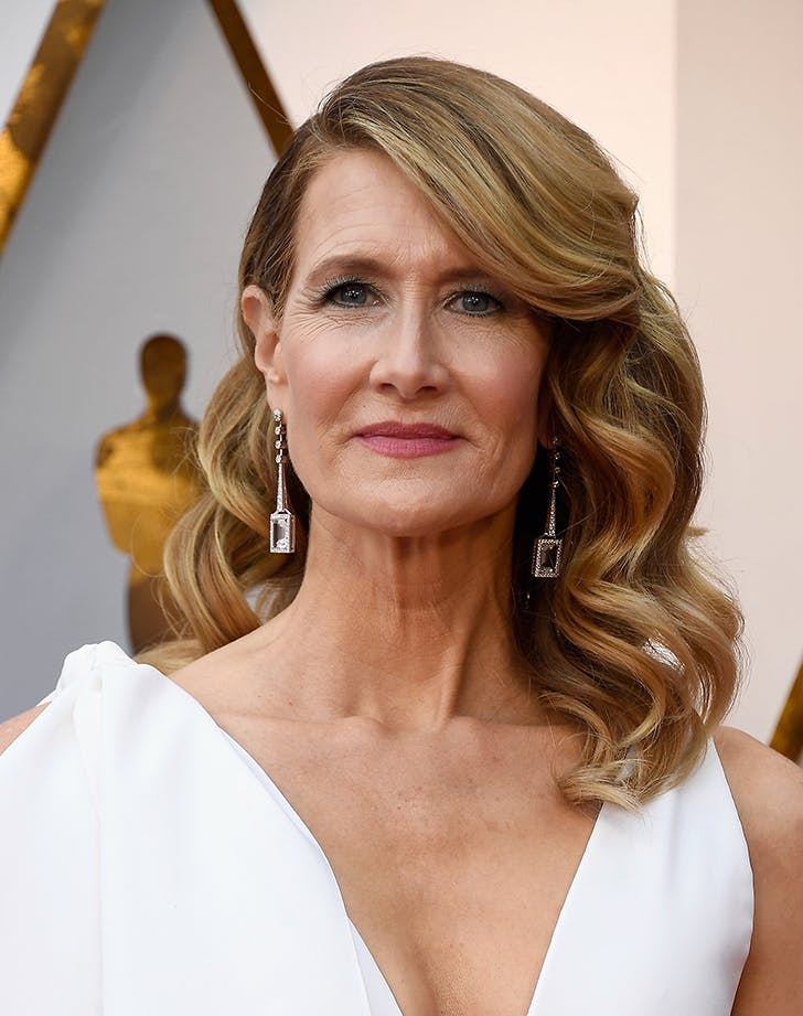 laura dern oscars beauty 2018