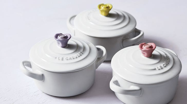 These Tiny Fl Le Creusets Are Perfect For Your Grown Up Easter Baskets Creuset