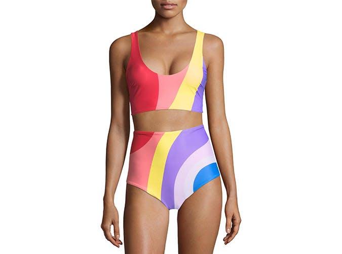 mara hoffman rainbow lira bikini top