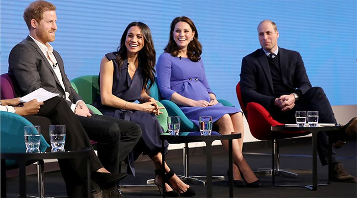 Meghan Markle & Kate Middleton Rock Twinning 'Duchess Slants' at First Official Appearance