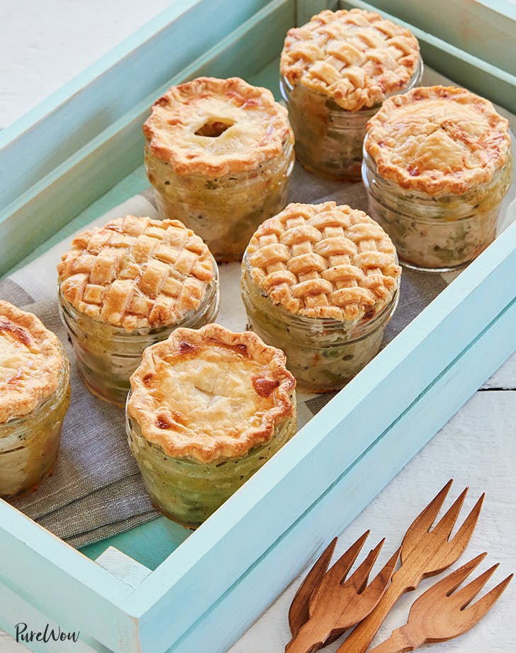 Mini Mason Jar Chicken Potpies