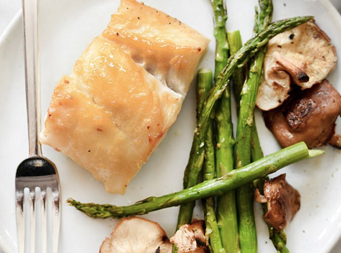 miso cod with vegetables recipe