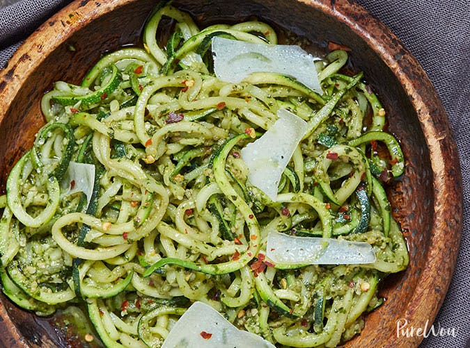 pesto zoodles recipe