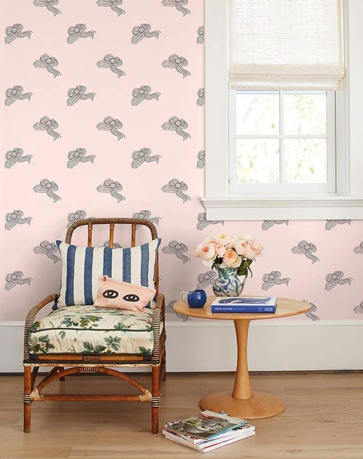 pink bowwallpaper