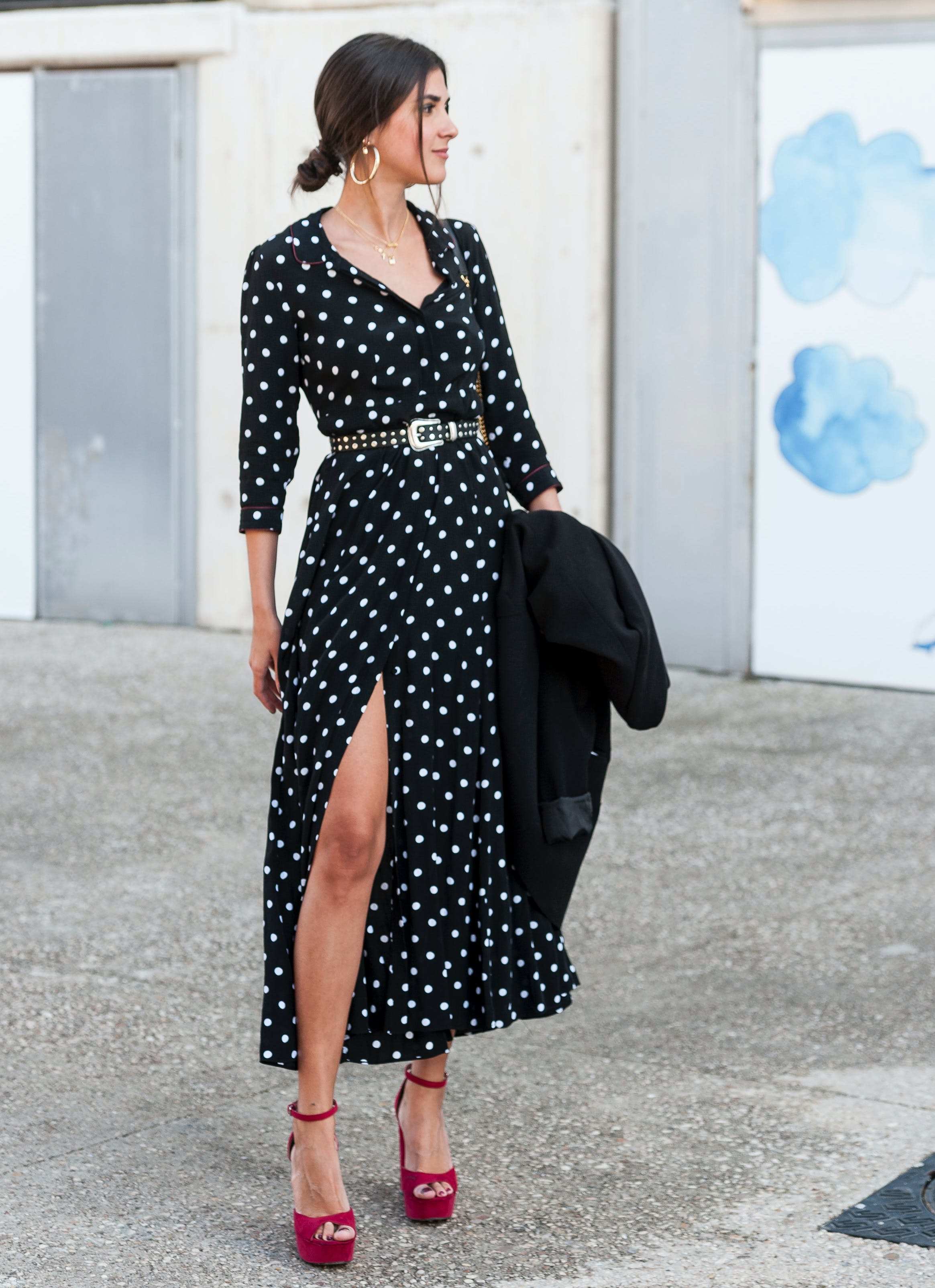 polka dots are trending for spring 2018