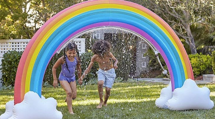 This Rainbow Sprinkler Is the Magical Toy Your Summer Needs