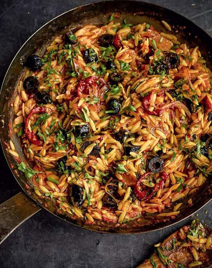 red orzo risotto goats cheese recipe