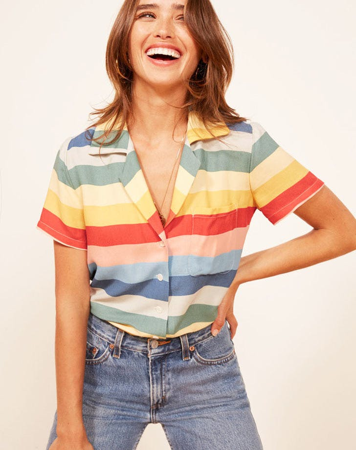 reformation palma rainbow top