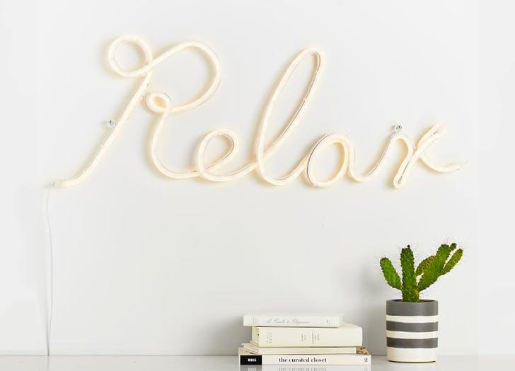relax neon light