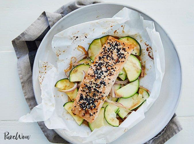 sesame ginger salmon in parchment recipe