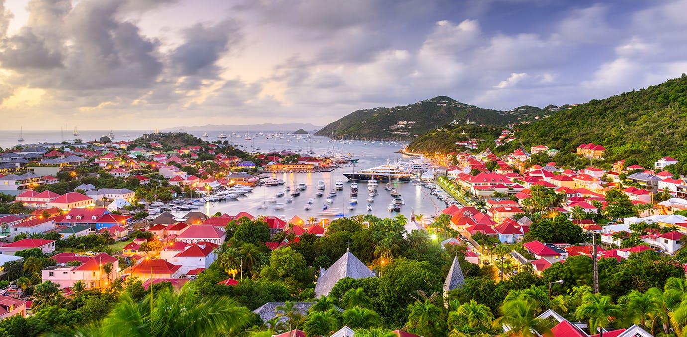 stunning views of st. barts island