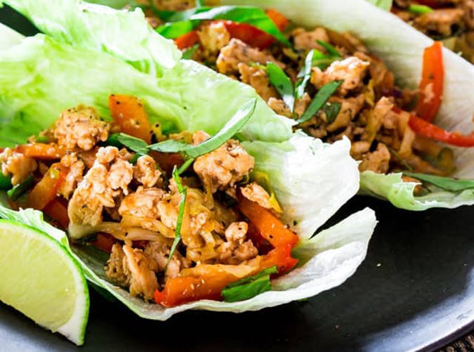thai chicken lettuce wraps keto