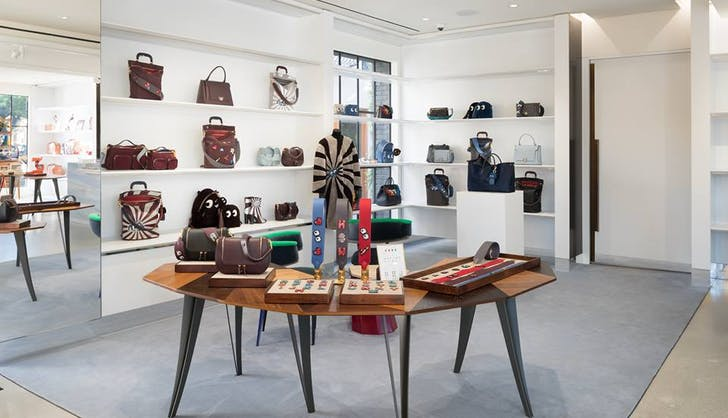 the anya hindmarch store in melrose place