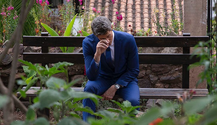 the bachelor arie crying
