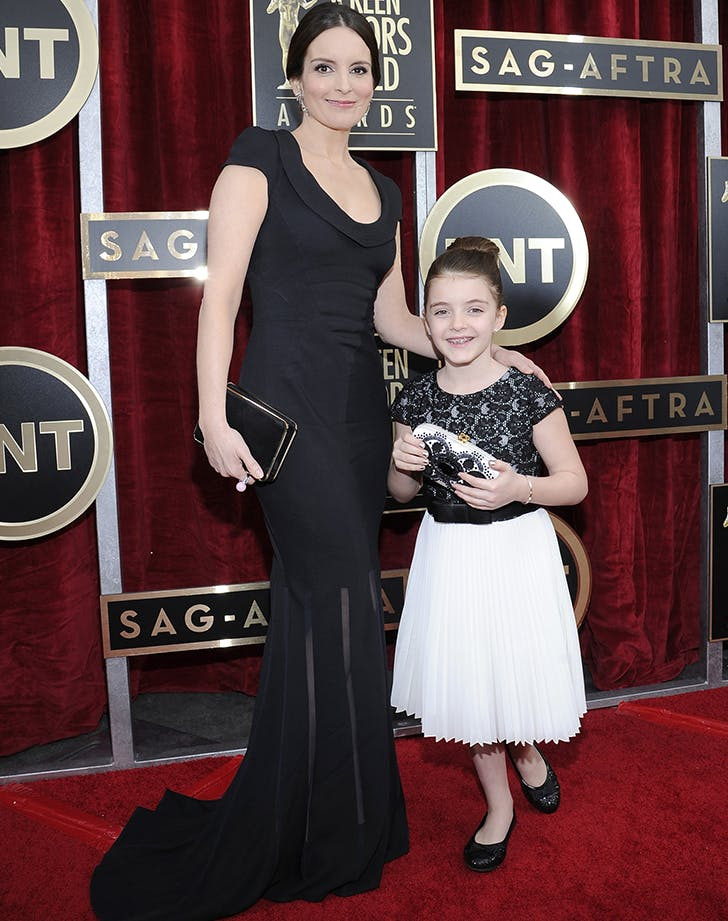 tina fey with one of her daughters