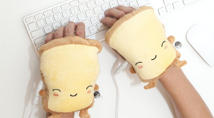 Your Office Is Freezing, but Hooray, These Toast-Shaped Hand Warmers Exist