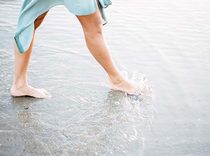 toes in ocean