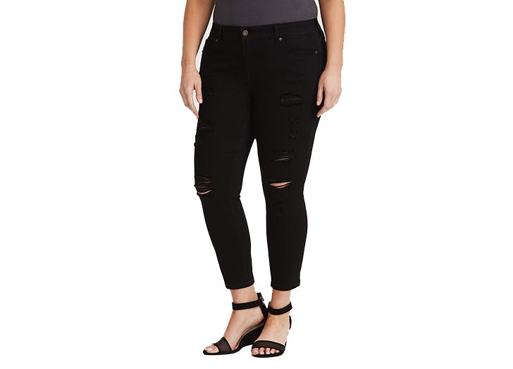 torrid long distressed skinny jeans