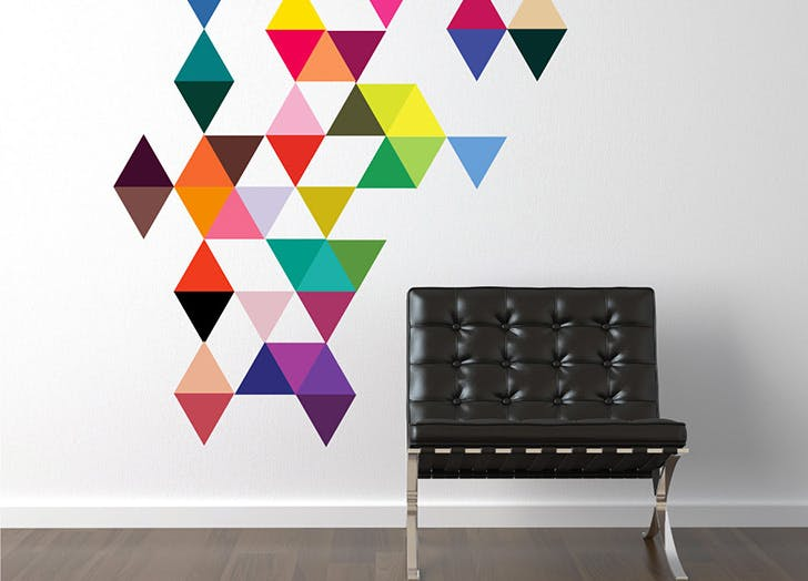 triangle wall decals
