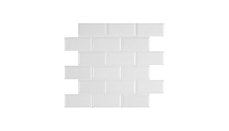 white subway tile