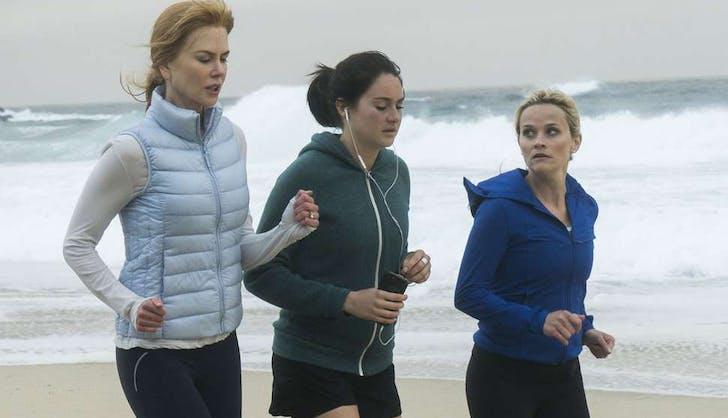 Big Little Lies cast running on the beach