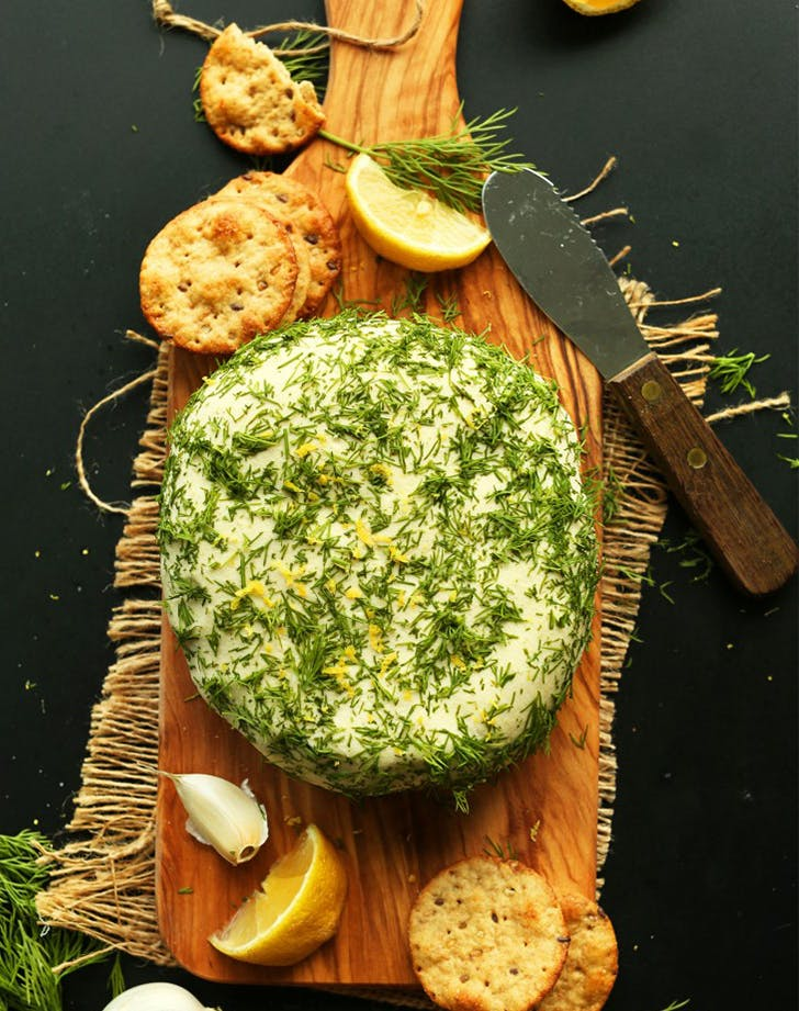 Easy Garlic and Herb Vegan Cheese recipe