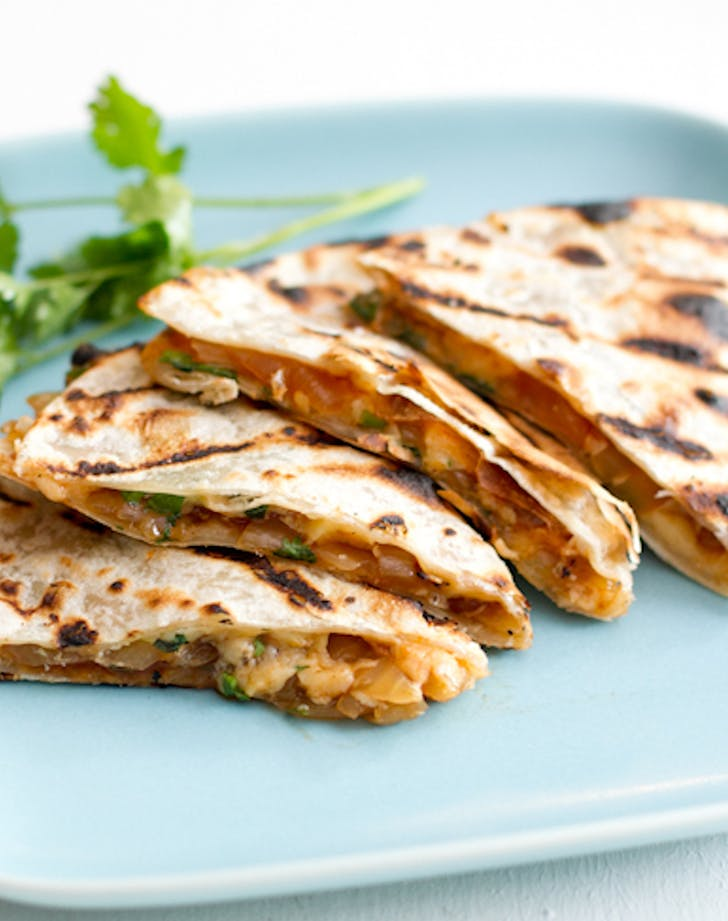 Grilled Onion and Smoked Gouda Quesedillas recipe