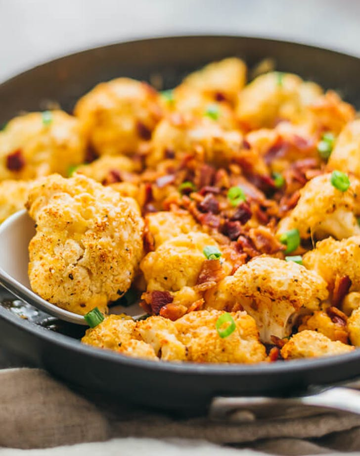 Loaded Cauliflower ketogenic side dish recipe