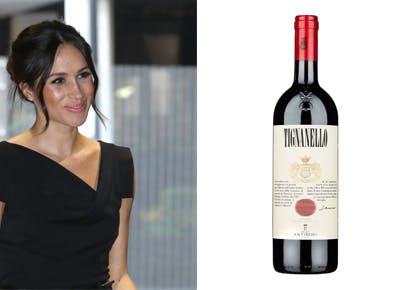 Meghan Markle Tignanello wine 290