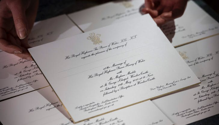 Prince Harry Meghan Markle wedding invitations