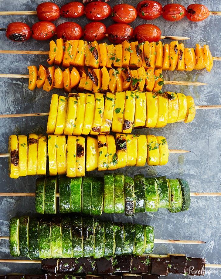 Rainbow Vegetable Skewers recipe