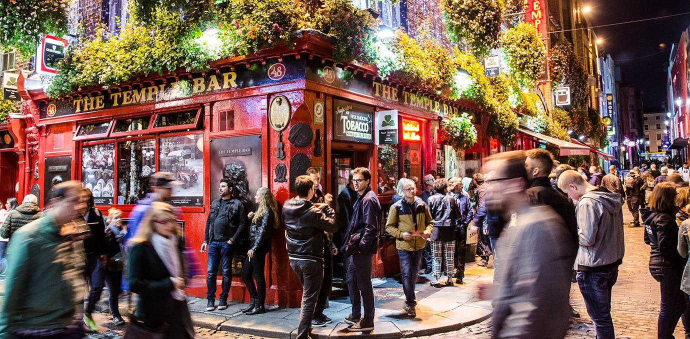 a bar in Dublin  Ireland