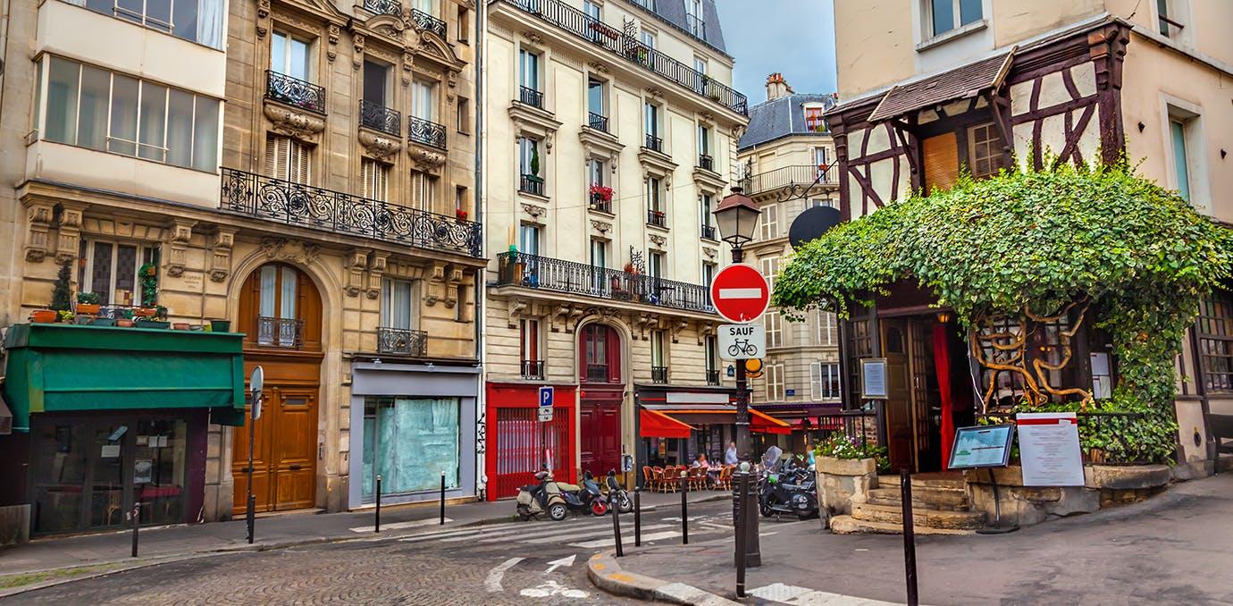 a pretty street in Paris  France