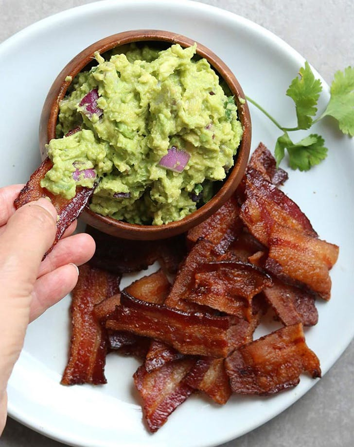 bacon chips and thick guacamole dip recipe