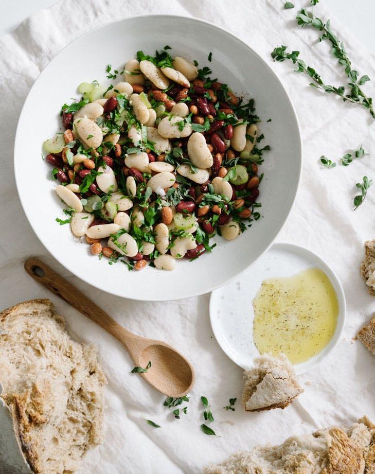 bean Salad herb lemon dressing