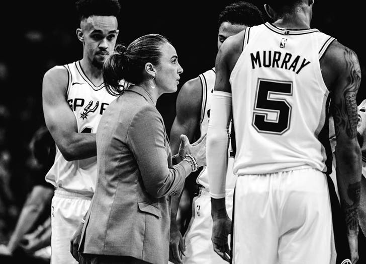 becky hammon during a spurs game
