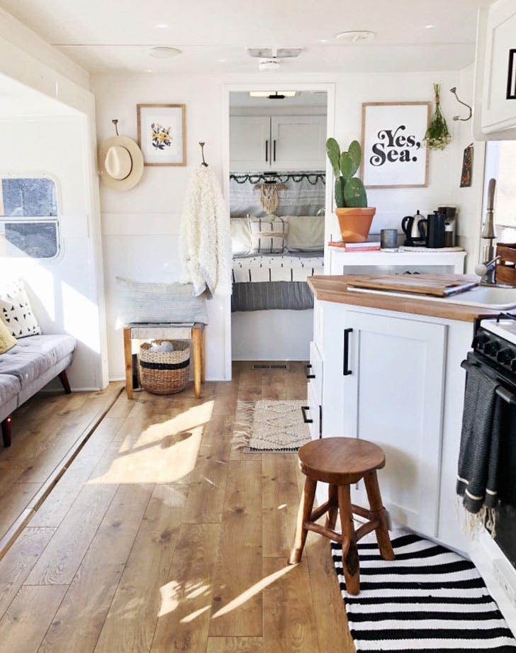 black white wood kitchen bedroom