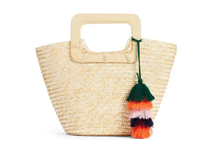 bp straw tote with tassels