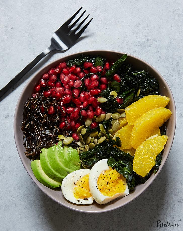 buddha bowl with kale orange avocado and wild rice recipe